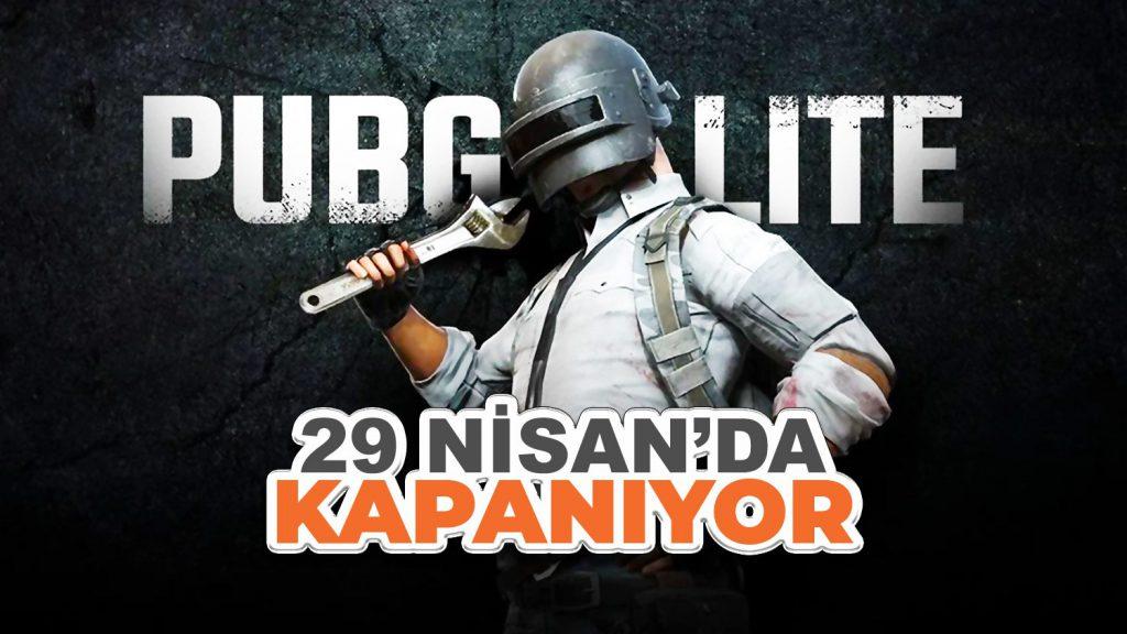 PUBG Lite 29 Nisan'da Kapatılıyor